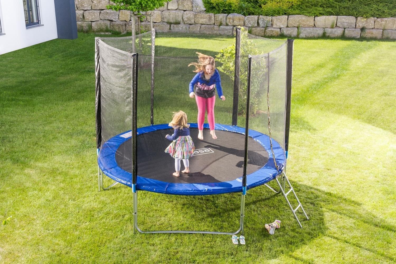 Outdoor Trampolin Gartentrampolin mit Sicherheitsnetz Leiter 457 cm 15 ft NEU