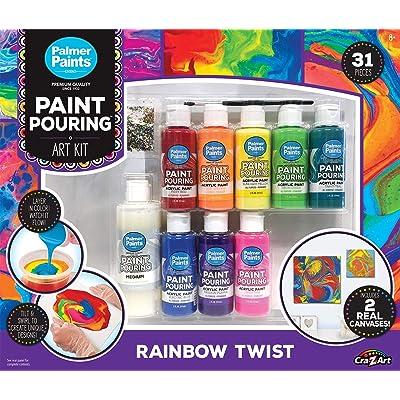Cra-Z-Art Palmer Paint Pouring Rainbow Set: Toys & Games