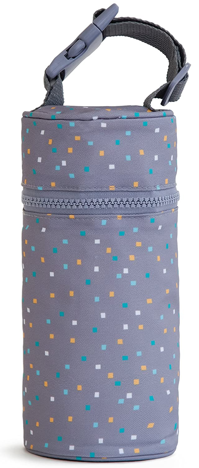 Kenley Insulated Single Baby Bottle Bag - Warmer Or Cooler - Travel Carrier, Holder, Tote, Portable Breastmilk Storage - Fits Tall 8oz 9oz Milk Bottles