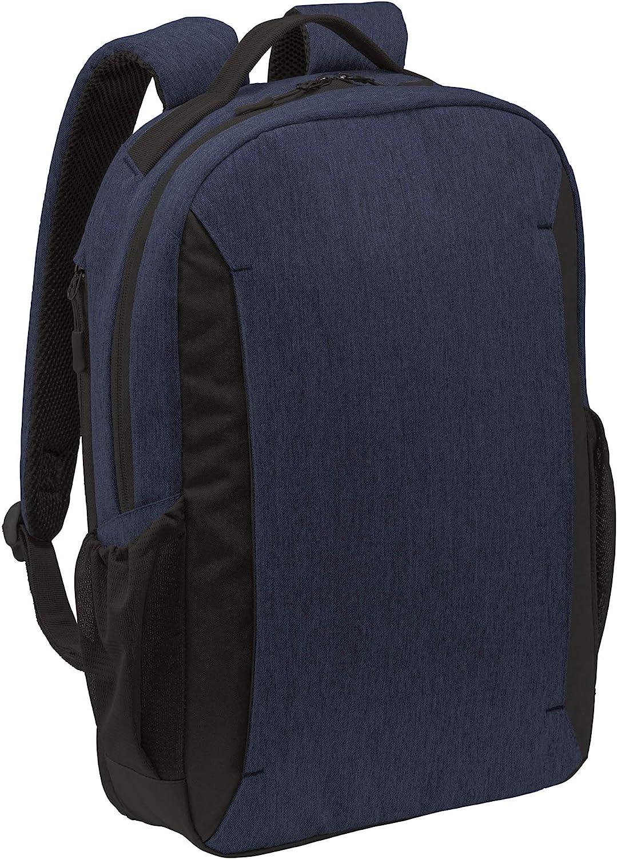 Port Authority Men's Vector Backpack, Navy Heather, One Size