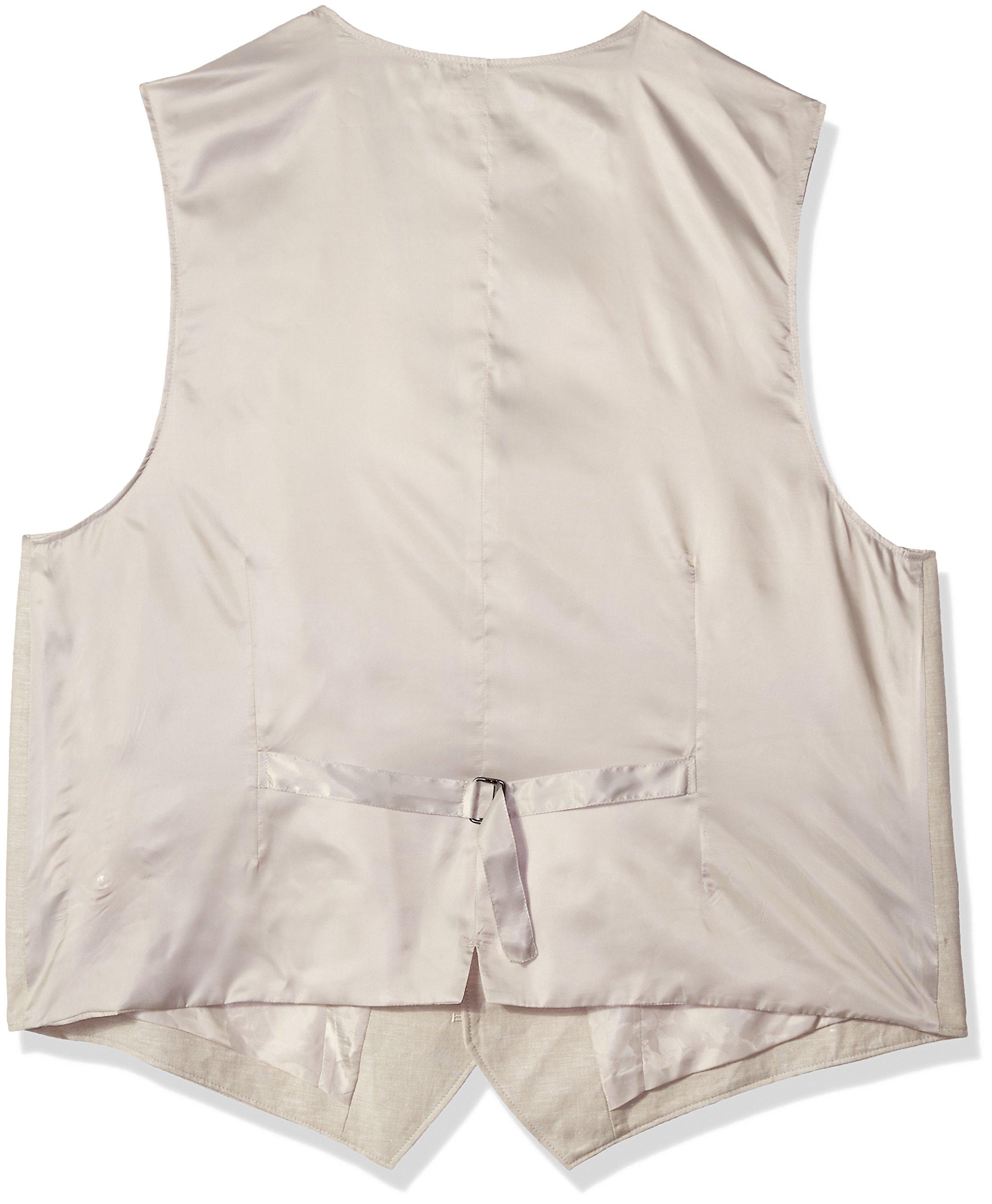 Cubavera Men's Big and Tall Easy Care Linen Blend Vest, Khaki, 3X by Cubavera (Image #2)