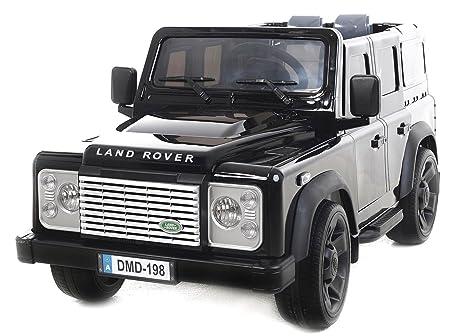 Land Rover Defender, Pintado de Negro, original con licencia, con pilas, 2x