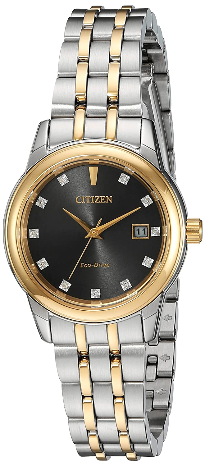 Citizen Women s Eco-Drive Two-Tone Watch with Diamond Accents