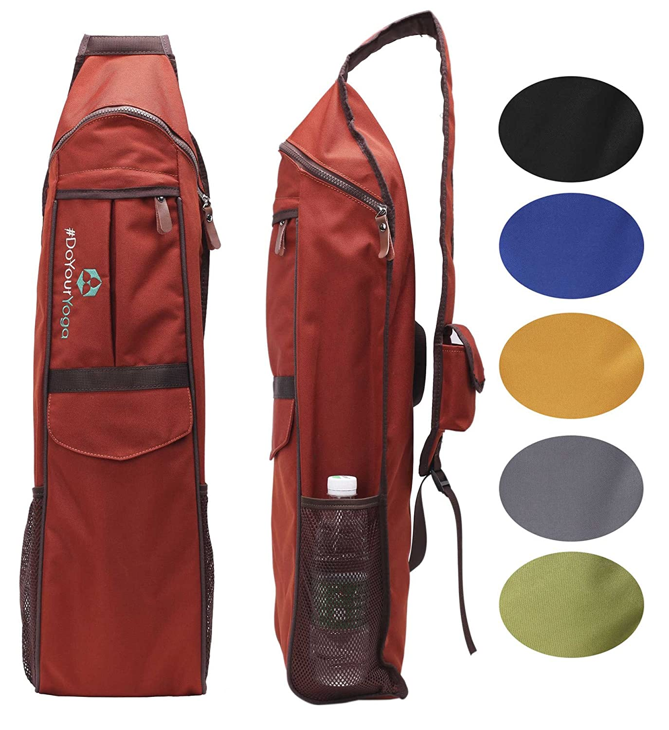 #DoYourYoga Yoga Mat Bag »Indra« from made of waterresistant materials - carry kit/shoulder/backpack (multifunctional storage like towel, wallet .) pilates fitness & aerobics mats #DoYourSports