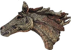 Driftwood Horse Head Large Wall Sculpture Decor Plaque Art