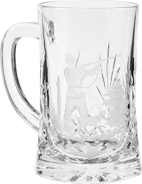 Crystaljulia 05955 Jarra de cerveza, 500 milliliters, cristal con plomo: Amazon.es: Hogar