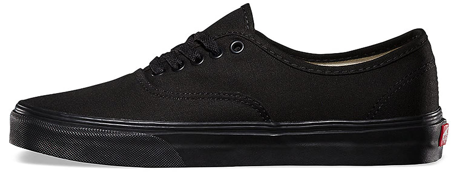 VANS Unisex Authentic Black Canvas VN000EE3BLK Skate Shoe B01MQP6JF3 10.5 M US Women / 9 M US Men|Black/Black