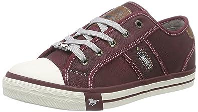 1099-302-55, Damen Sneakers, Rot (55 bordeaux), 37 EU Mustang