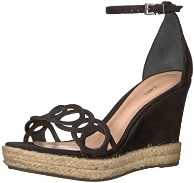 592a9b7779 SCHUTZ Women's Keira Espadrille Wedge Sandal, Black, 9.5 M US: Buy ...