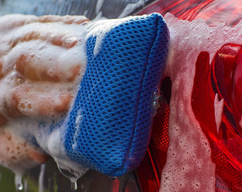 VIKING Royal Blue 3 Pack 939501 3 Pack Mesh Bug Cleaning Wash Sponge-4 Inch x 6 Inch 3 Pack
