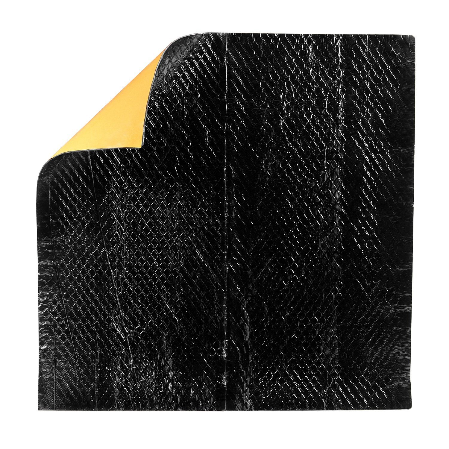 3M Sound Deadening Pads, Self-Adhesive Sheets, Black One Pad Each