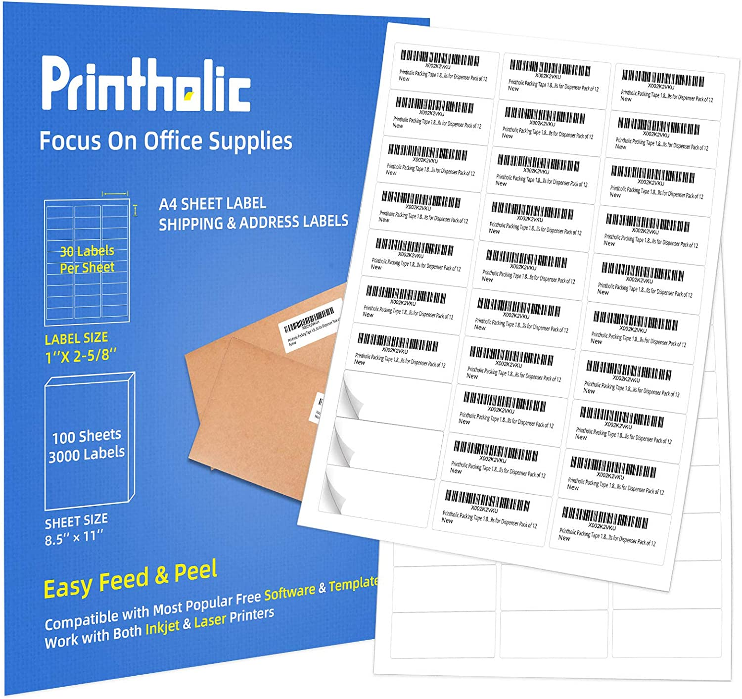 6 per Sheet Quality Printable A4 Size Address Labels Self Adhesive Sticker