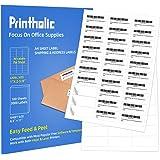 "Printholic 30-Up Shipping Labels 1"" X 2-5/8"" Address Mailing Sticker Self Adhesive for Laser & Inkjet Printers (100 Sheets, 3"