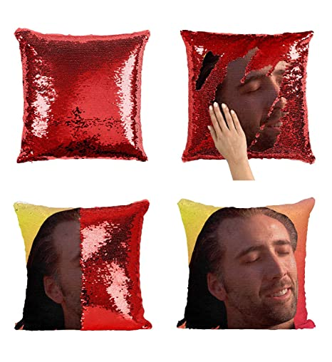Cuscini Regalo.Floradesweet Con Air Nicolas Cage Pillow Paillettes Due Colori