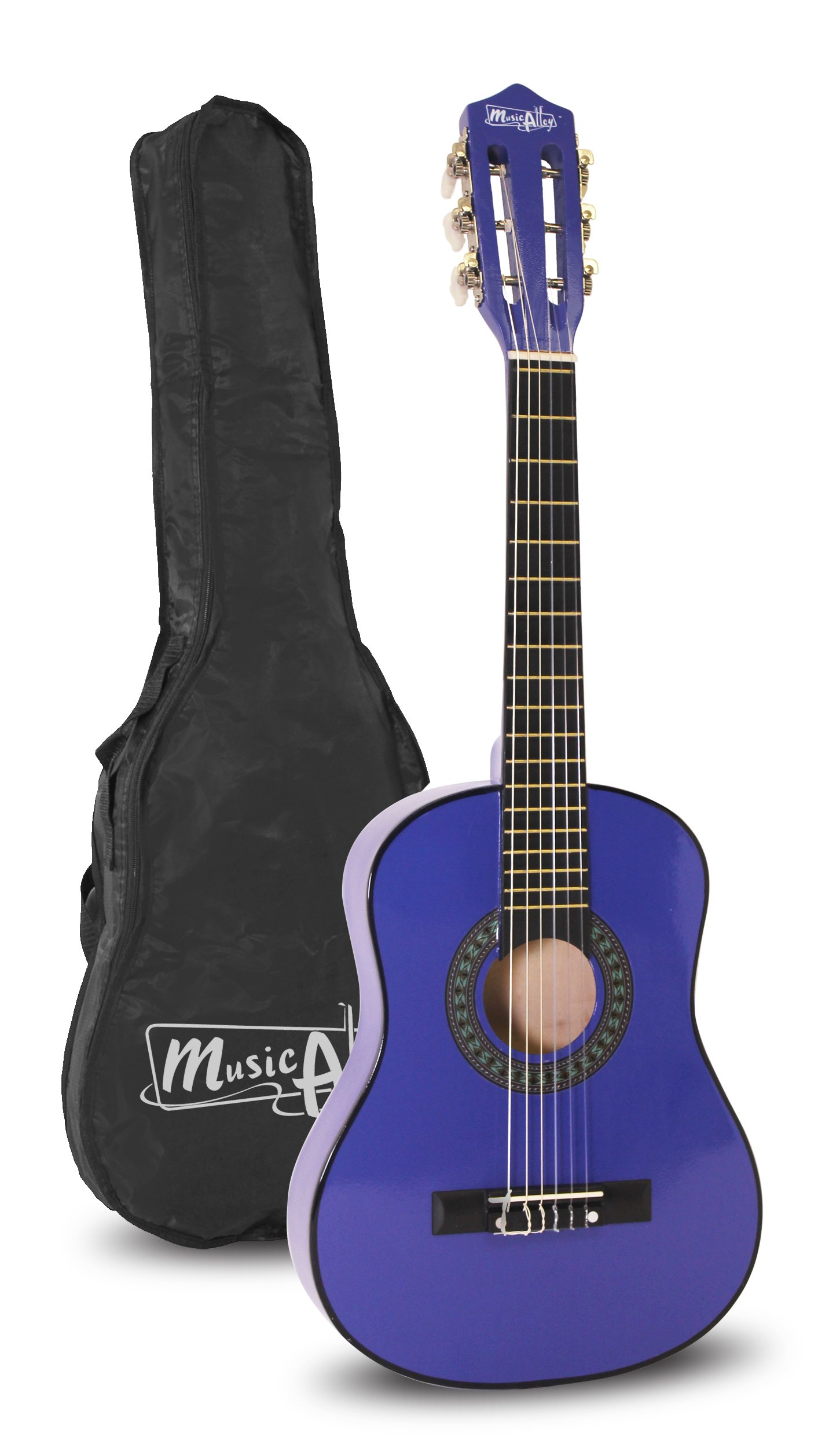 Music Alley 6 String 30 inch Half Size Junior Guitar For Young Kids Blue MA-52