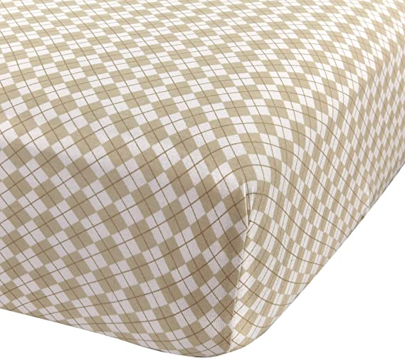 Super Soft Fitted Crib Sheets 100 Jersey Cotton For Boys And Girls 28 X 52 Fits Full Size Crib And Toddler Bed Mattresses Covered Elastic Hem Beige Argyle By Abstract Kitchen Dining Amazon Com