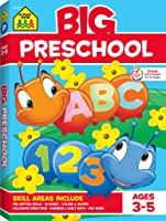 School Zone - Big Preschool Workbook - Ages 3 - 5, Colors, Shapes, Numbers 1-10, Alphabet, Pre-Writing, Pre-Reading,...