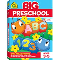 School Zone - Big Preschool Workbook - Ages 4 and Up, Colors, Shapes, Numbers 1-10, Alphabet, Pre-Writing, Pre-Reading, Phonics, and More (School Zone Big Workbook Series)