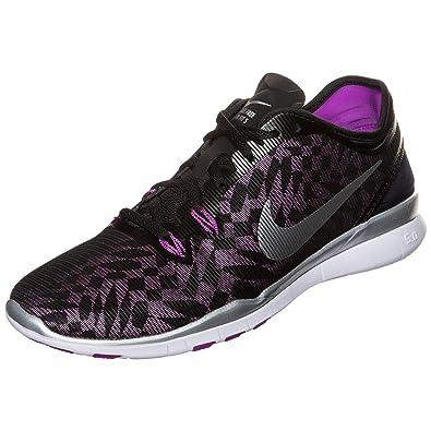 Nike Women's Wmns Free 5.0 TR Fit 5 MTLC, BLACK/METALLIC SILVER-VIVID