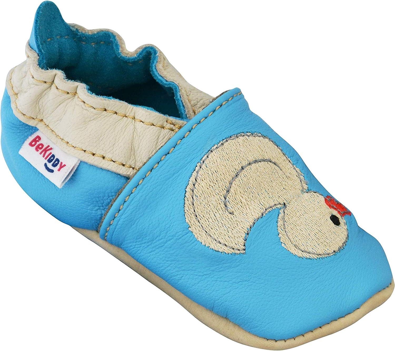 BeKiddy Chaussures b/éb/é pour gar/çons Fille Bambin Cuir Chaussons b/éb/é Chaussures b/éb/é 0-24 Mois Baby 19-25 EU De Nombreuses Couleurs Motif