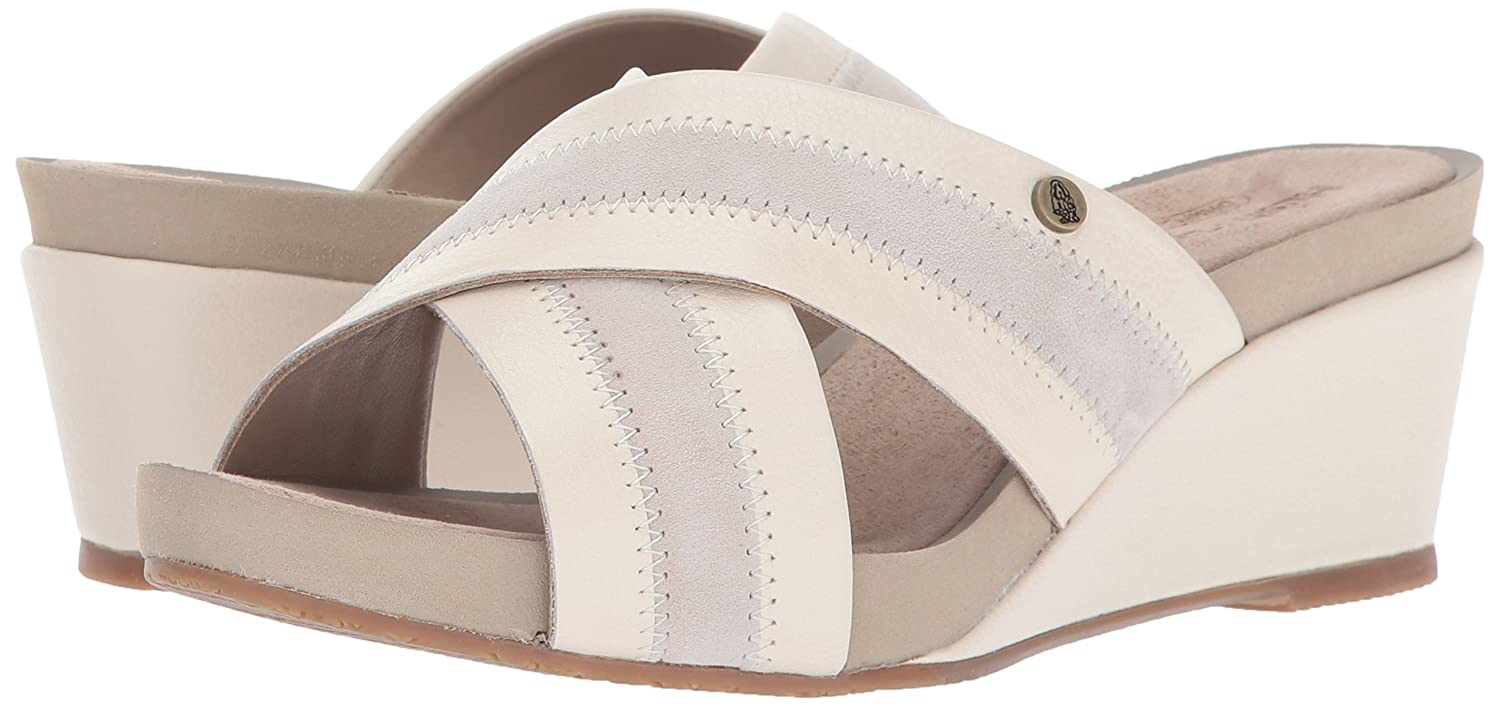 Hush Puppies Women's Envoi Cassale Wedge Sandal B01IRV78Y4 7 W US|Birch Leather/Suede