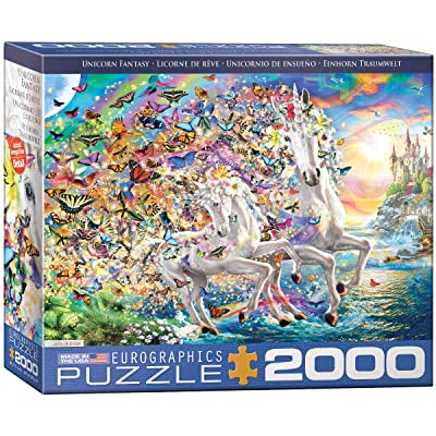 EuroGraphics Unicorn Fantasy by Adrian 2000-Piece Puzzle: Toys & Games [5Bkhe0300971]