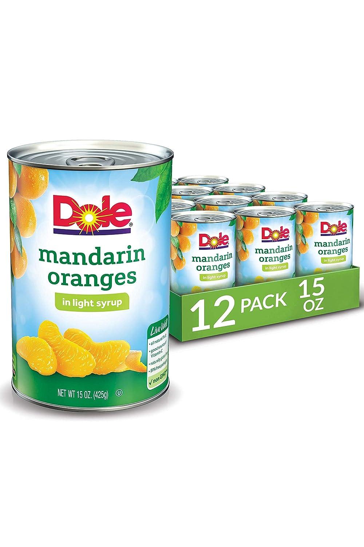 Dole Mandarin Oranges in Light Syrup, 15 Fl Oz (Pack of 12)