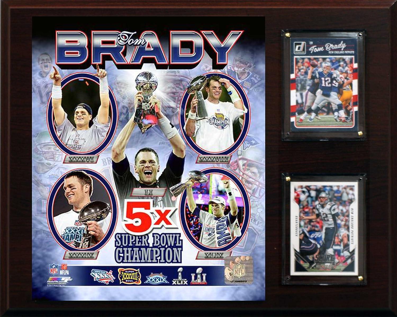 人気デザイナー NFL新しいEngland Bowl Patriotsメンズトムブレイディ5時間Super Bowl Winnerプラーク、ブラウン B073HF8K8M, フロアマット工房 タスカル:e9ab0fbb --- arianechie.dominiotemporario.com