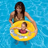 "KriTech Inflatable Baby Float Ring Swimming Pool Toys for Babies & Toddlers - 26.5"" (Multicolour)"