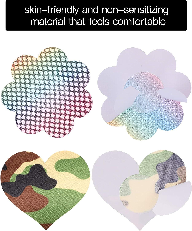 50 Pairs Multi Design Pasties Nipple Covers Disposable Satin Breast Petal Stickers Adhesive Breast Pasties