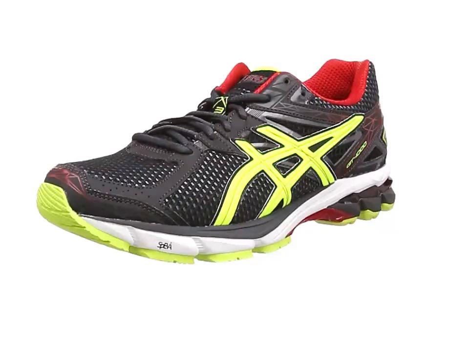 ASICS GT-1000 3, Zapatillas de Running para Hombre, Negro (Onyx/Flash Yellow/Red 9907), 40 EU: Amazon.es: Zapatos y complementos