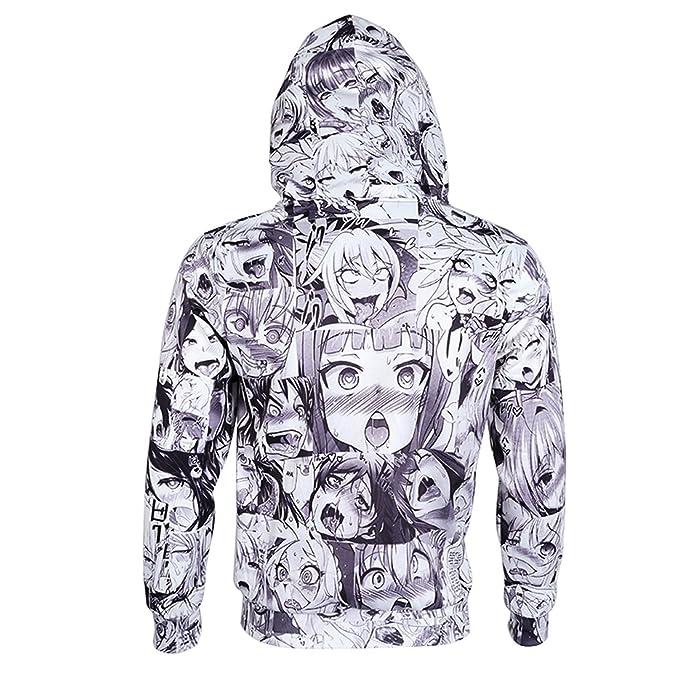 differently b02f9 44e12 Amazon.com  Hoodies Sweatshirt Autumn Winter Men s Long Sleeve Pullovers 3d  Print Tracksuit Plus Size  Clothing