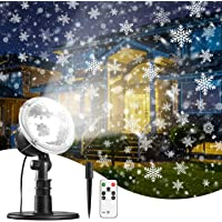 TRODEEM Christmas Snowflake Projector Light for Xmas, Valentines Day, Wedding, Party