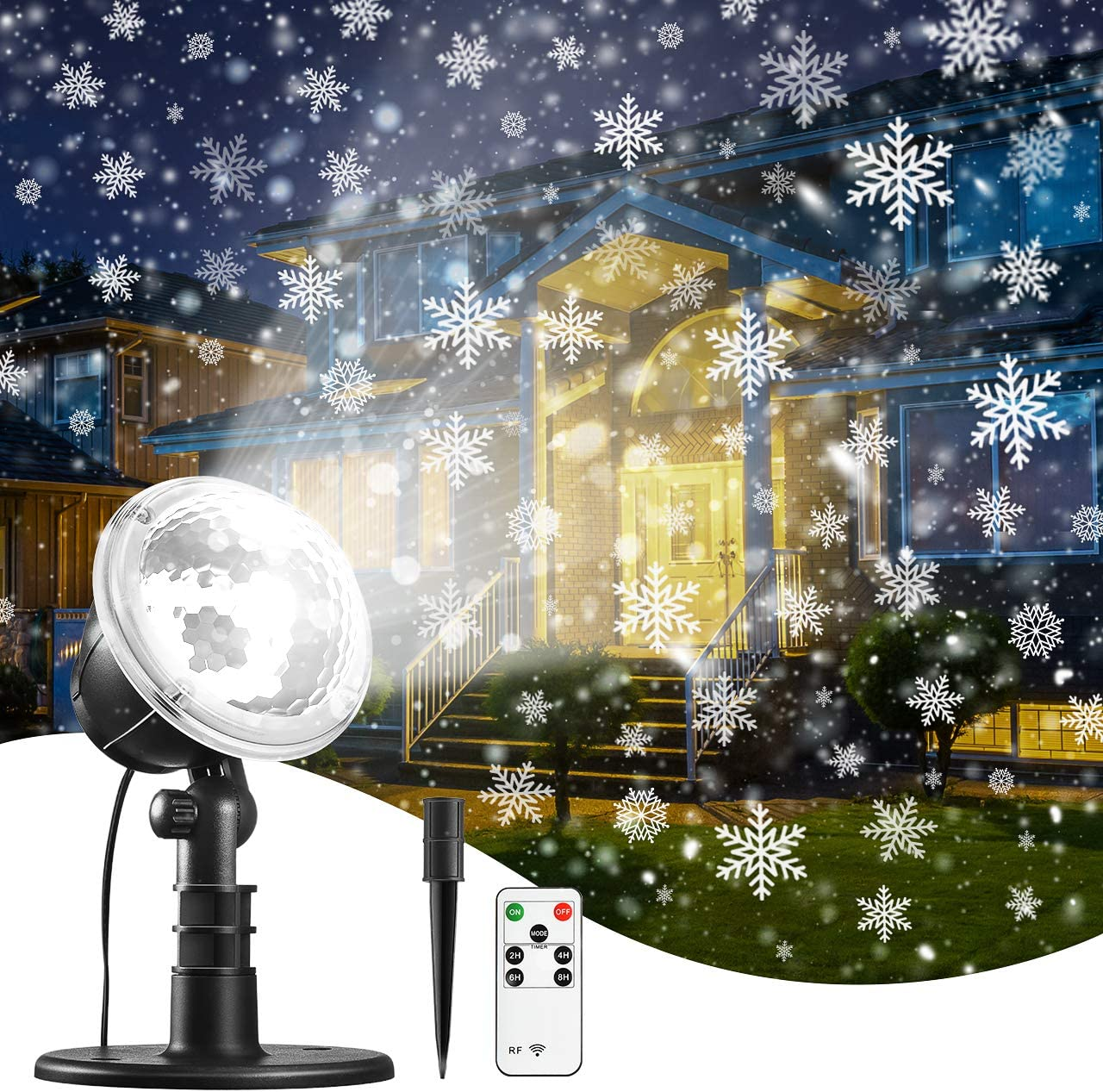 Christmas Laser Projector Light LED 12 Pattern Garden House Snow Party Outdoor