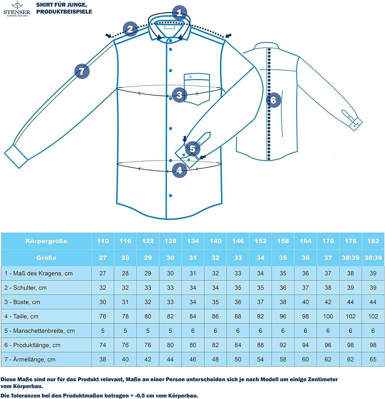 Blau STENSER Jungen Schuluniform Hemd C77-11