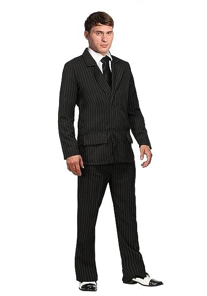 Amazon.com: Deluxe Plus Size Gangster disfraz: Clothing