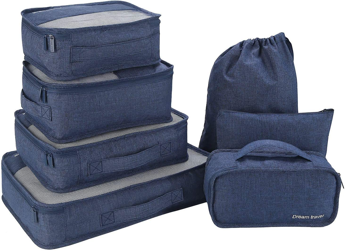 Packwürfel 7-Teiliges Kleidertaschen Set