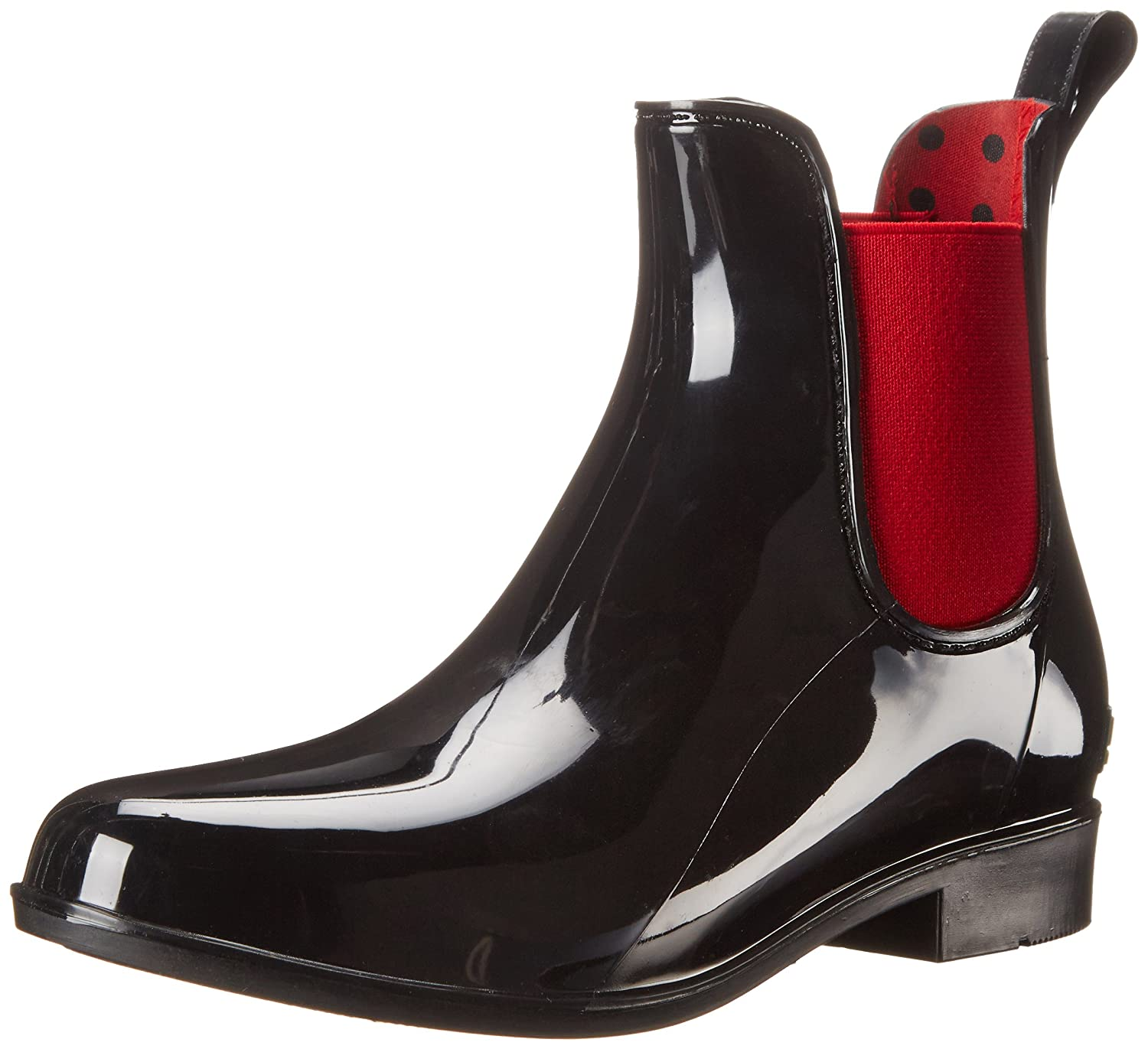 Lauren Ralph Lauren Women's Tally Rain Boot B00L3LOHS6 6 B(M) US|Black/Real Bright Red Solid Polyvinyl Chloride/Elastic