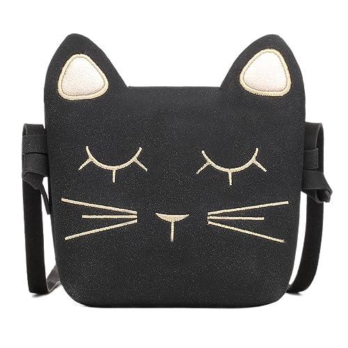Amazon.com  CMK Trendy Kids Cute Cat Toddler Purse for Little Girls ... d2422e7ea524c