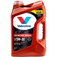 $22 » Valvoline High Mileage with MaxLife Technology SAE 5W-30 Synthetic Blend…
