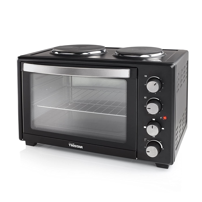 Amazon Tristar OV 1442 en mit zwei integrierten Kochplatten