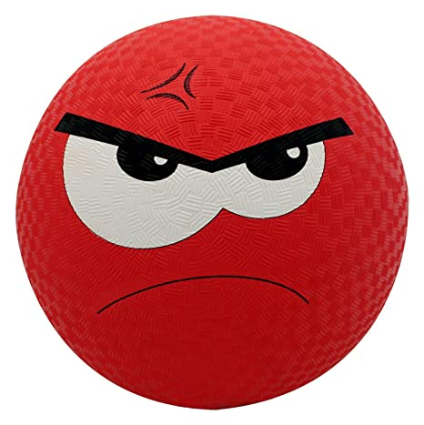 baden rubber angry emoji playground ball red 8 5 amazon in