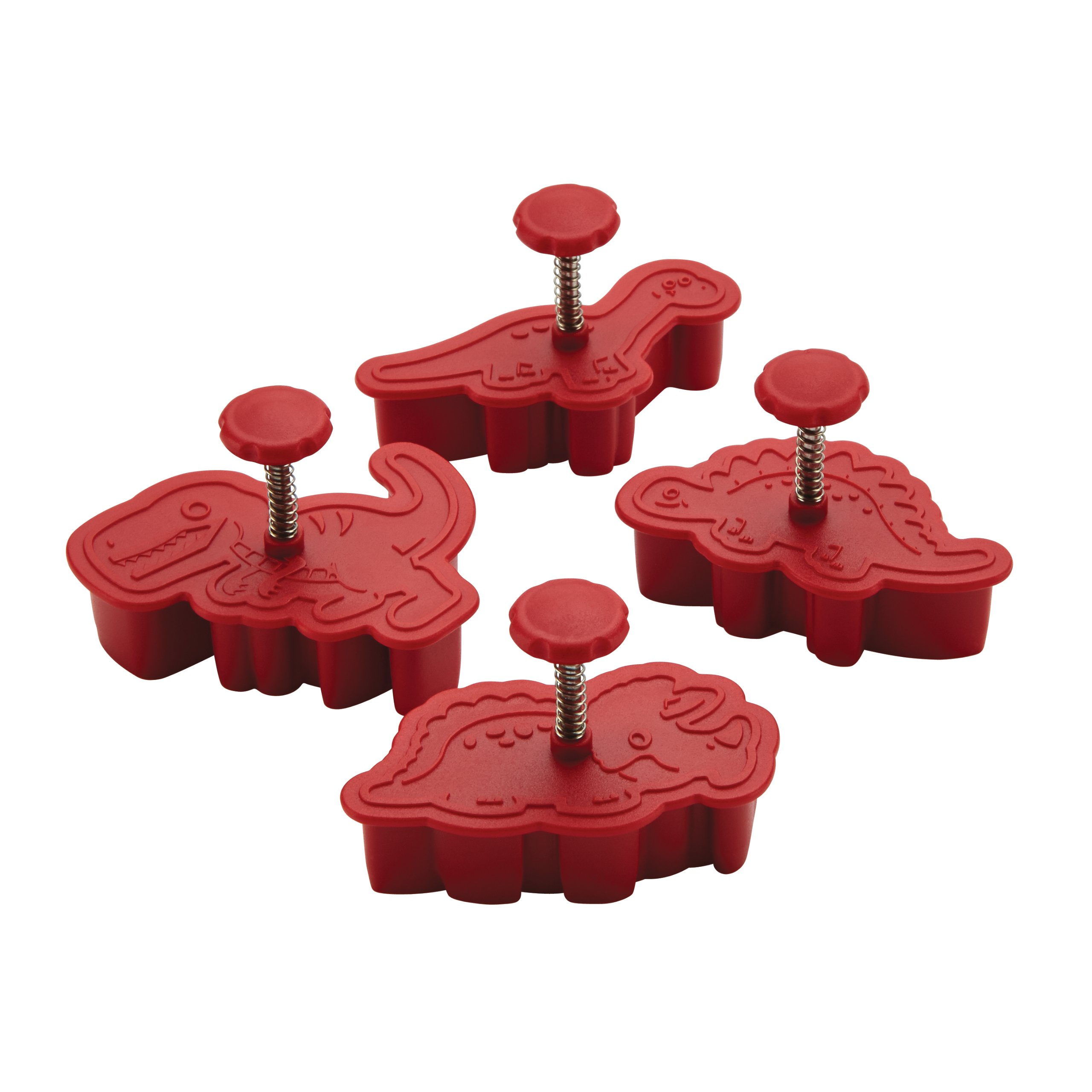 Cake Boss 59463 Decorating Tools Fondant Press, Stamp Set, 4 Piece, Red by Cake Boss