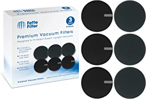 Fette Filter - Vacuum Filter Compatible with Select Bissell Vacuum. Compare to Part #1608225 & 1601972, 160-8225 & 160-1972 Pack of 3