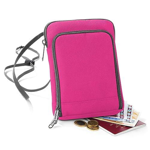 BagBase - Cartera para pasaporte mujer chica hombre para chico, color rosa, talla Talla única: Amazon.es: Zapatos y complementos