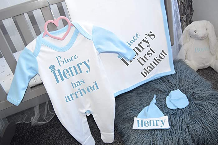 Personalised Baby Clothing Personalised Baby Gift Personalised Tiny Prince Custom Name Cotton Baby Hoodie SR