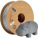 Polymaker Eco-Friendly PLA Filament 1.75mm Grey 1kg Carton Spool Filament PLA 1.75 - PolyTerra PLA 3D Printer Filament Print