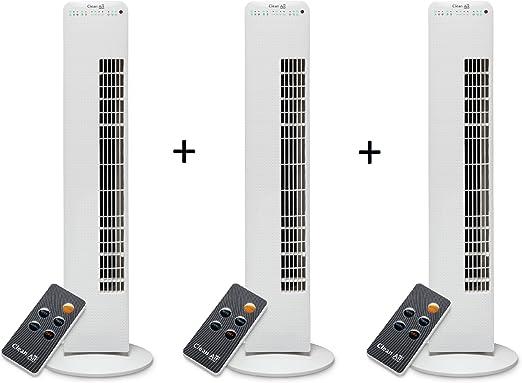 3 x Luxus Torre Ventilador con ionizador de 405: Amazon.es ...