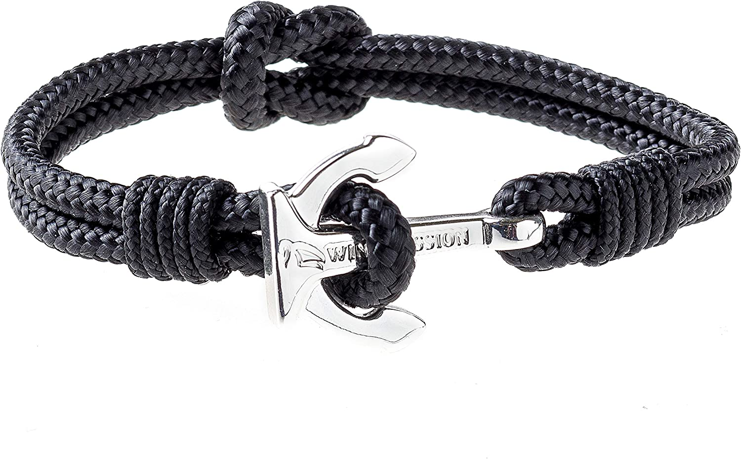 Wind Passion Premium Anchor Bracelet Durable Nautical Rope Cuff Wristband for Men Women