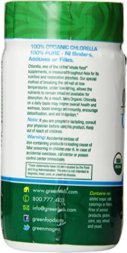 Green Foods Organic Chlorella 500 Mg, 120 Count